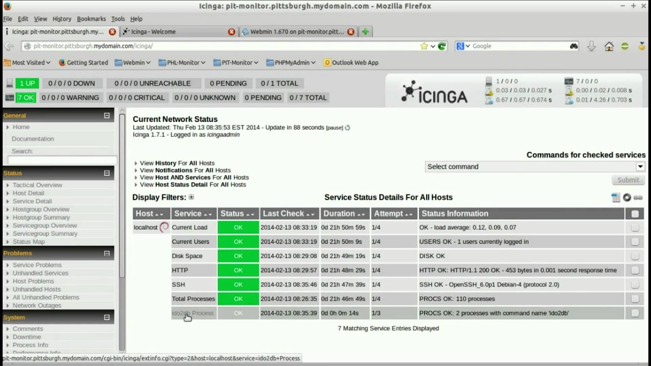 Icinga Web Install and Configuration File Restore