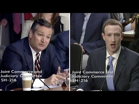 Ted Cruz makes Mark Zuckerberg Sweat During Congressional Testimony