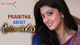 Pranitha Best Wishes to Srimanthudu Movie | Mahesh Babu | Shruti Haasan | Mythri Movie Makers