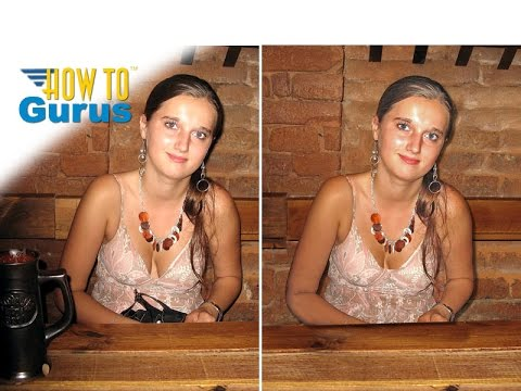 How To Fix Photograph Photo Repair Adobe Photoshop Elements Tutorial