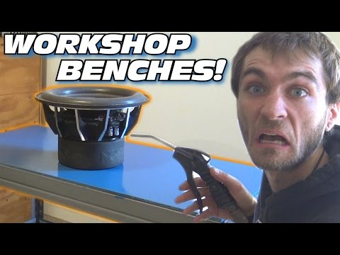 EXO's Car Audio Workshop Pt 1: Making MDF Tables & Painting Workbench w/ Waterproof BLUE Paint
