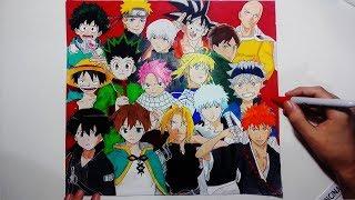 Speed Drawing   Anime Heroes   Anime Hero