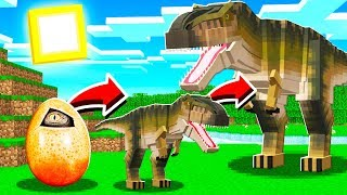 LIFE OF A TREX IN MINECRAFT!