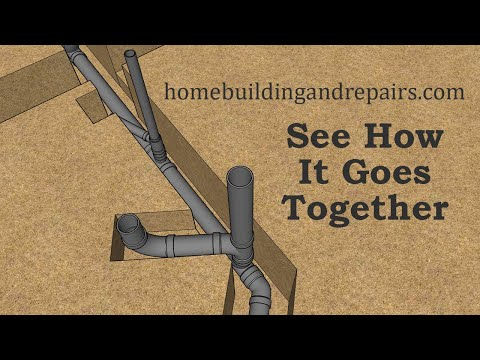 Building Foundation Plumbing Drain Pipe Layout And Assembly For Small House - Part Two