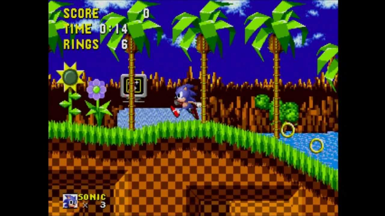 Sonic The Hedgehog Gameplay Part 1 Green Hill Zone Youtube