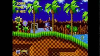 Sonic The Hedgehog - Gameplay Part 1 Green Hill Zone