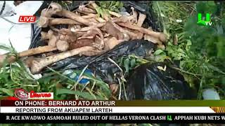 Bags of human body parts dumped on Ayikum-Larteh Road