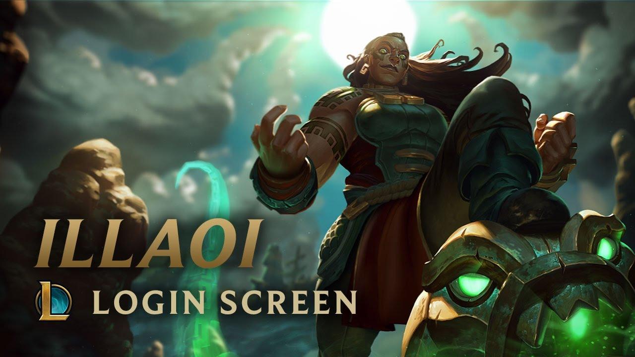 illaoi the kraken priestess login screen league of legends