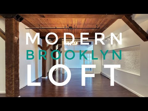 Best? Modern Loft in Brooklyn! Cool Industrial Look, Original Details, Must See! Video Tour NYC