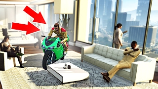 DRIVING INSIDE OFFICE BUILDINGS! (GTA 5 Funny Moments)
