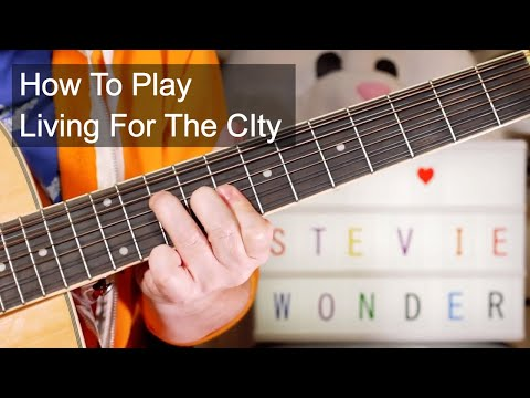 'Living For The City' Stevie Wonder Acoustic Guitar Lesson