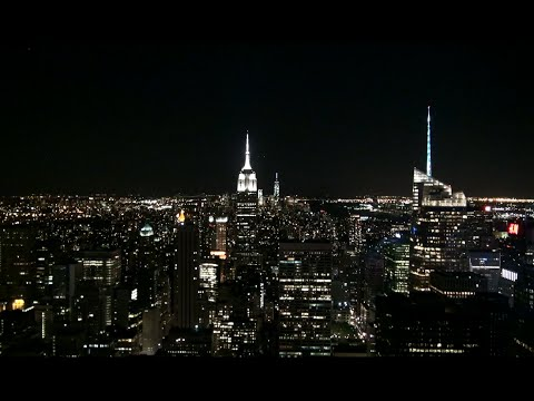 Spectacular View from Top of the Rock | Rockefeller Center New York City at Night