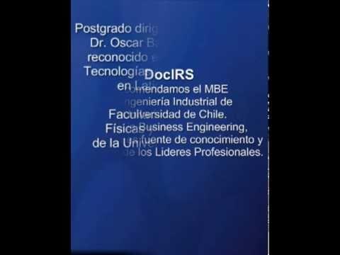 MBEde Ingeniería Industrial de la Universidad de Chile ~ Master in Business Engineering
