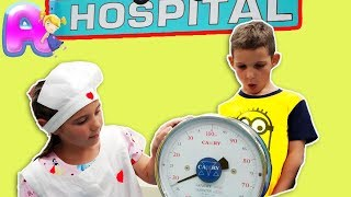 Kids play doctor on playgraund with Anna Kids