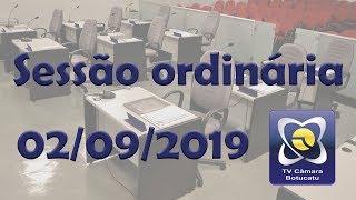 Sessão Ordinária 02/09/2019