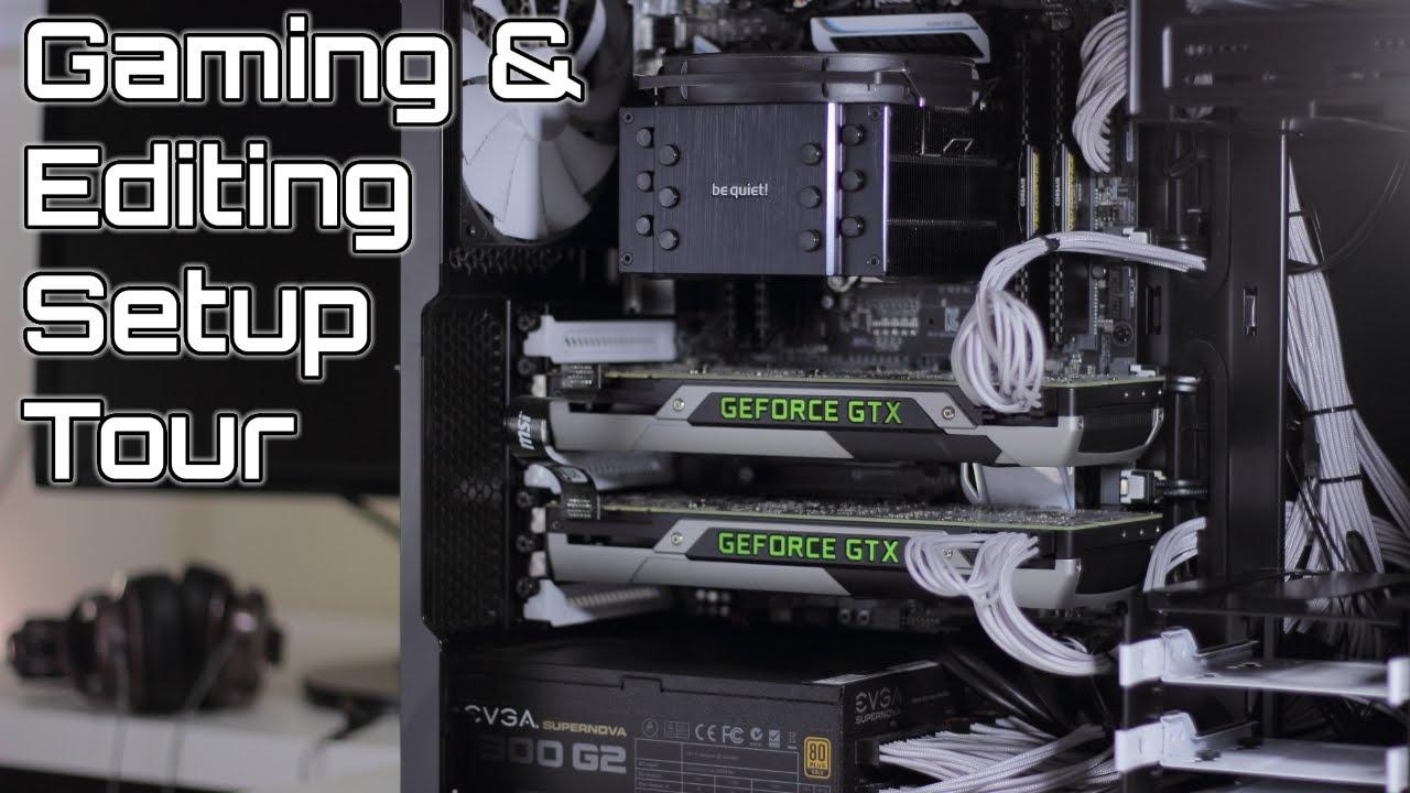 Black White Pc Gaming Youtube Studio Setup Tour 2015 Youtube