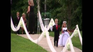 Beautiful wedding entrance!