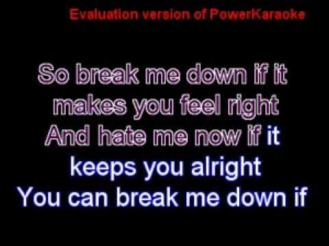 Breakdown  Seether karaoke instrumental