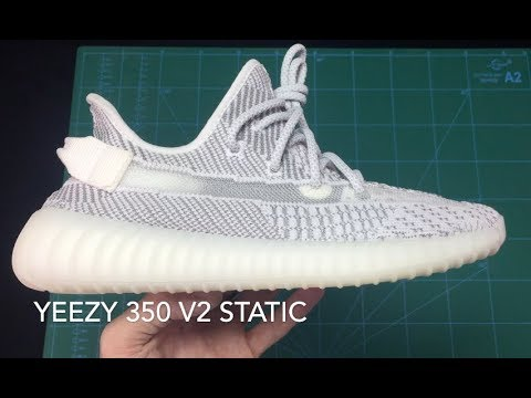14fc3911f Yeezy Boost 350 V2 Static First Look from Shoedog Review - YouTube