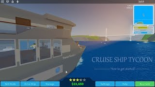 Roblox Cruise Ship Tycoon • How to get started! • TwanTastic