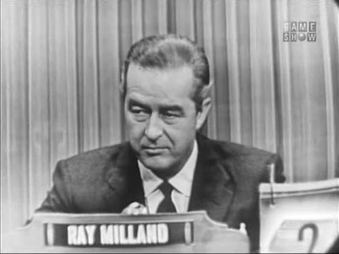 What's My Line?  Ray Milland Oct 31, 1954