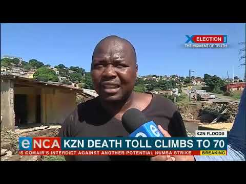 KZN death toll climbs up to 70