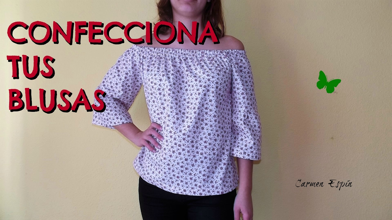 0a96d2e420 BLUSA SIN HOMBROS DIY - YouTube