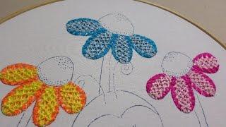 Bordado Fantasia Flores Catarina