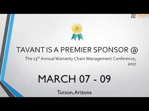 Tavant at WCM 2017   March 7-9, Tucson
