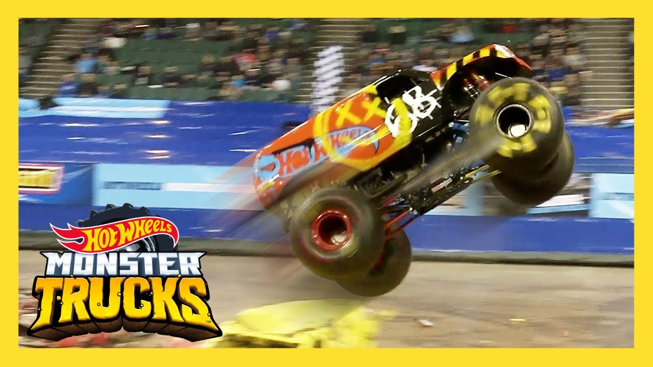 Top 10 Best Monster Trucks Live Freestyle Moments Monster Trucks Live Hot Wheels Youtube
