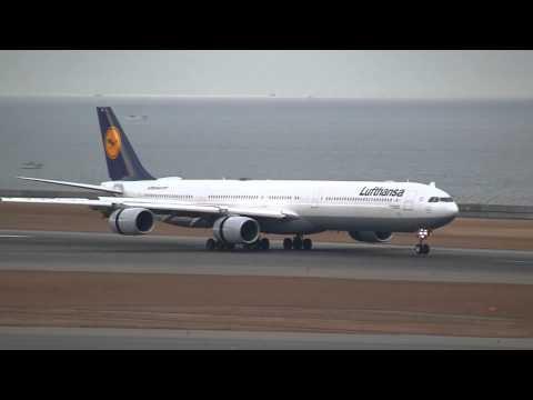 Lufthansa Airbus A340-642 D-AIHL Landing at Nagoya