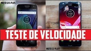 Moto G5S Plus Vs Moto Z2 Play - Speed Test (Teste de Velocidade)