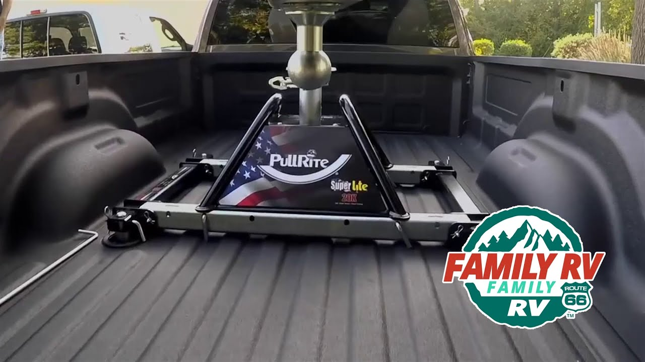 Fifth Wheel To Gooseneck Hitch >> SuperLite from PullRite - YouTube
