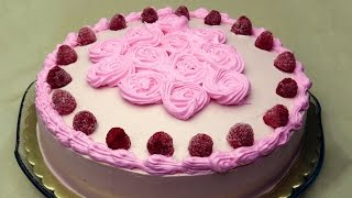 Chocolate Raspberry Cake Recipe - Moist Cacao Sponge Cake