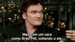 (David Letterman Legendado)  Quem não tem Brad Pitt vai de Quentin Tarantino