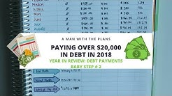 Paying off $20,0 in Debt in One Year | Year in Review Debt Payments | Baby Step #2
