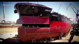NAVANTIA Puerto Real: Time-lapse construcción SUEZMAX 'Monte Urbasa'