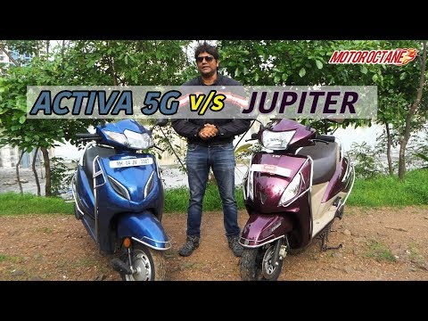 Honda Activa 5G vs TVS Jupiter 2018 comparison in Hindi | MotorOctane
