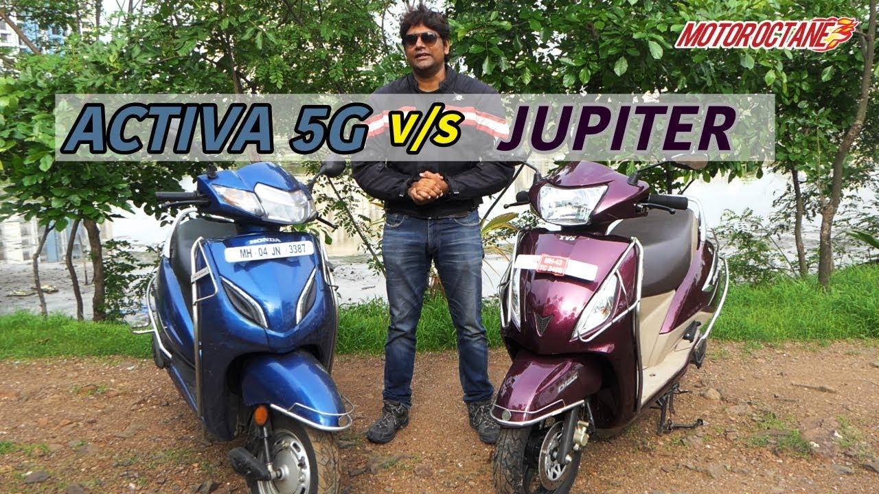 Honda Activa 5g Vs Tvs Jupiter 2018 Comparison In Hindi