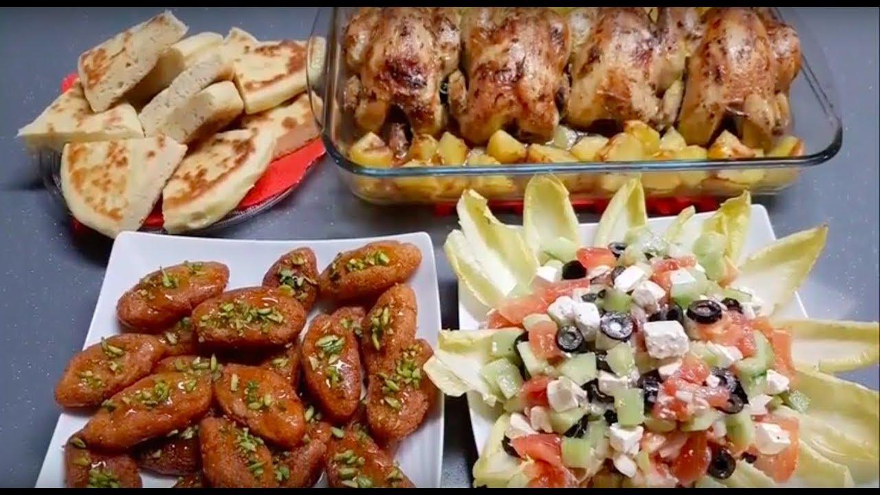 Idée de repas avec pain entrée plat et dessert - YouTube