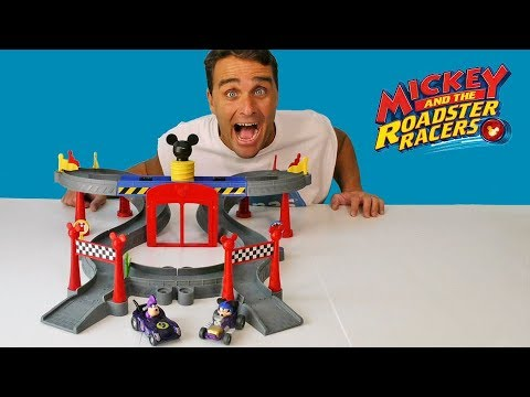 Mickey And Roadster Racers Mickey Ears Raceway ! || Disney Toy Review || Konas2002