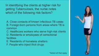 Risk Factors for TB! Nursing Exam/NCLEX Style Question!!