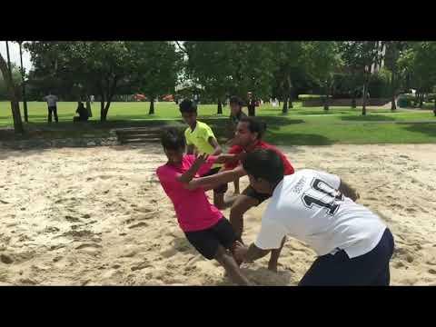 Kabaddi Singapore training under 4 defense