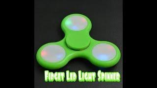 Fidget Led light spinner, unboxing & review.
