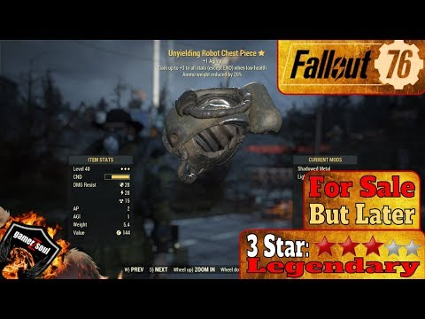 Fallout 76 PC [3 Stars Legendary Weapons and Armor] Unyielding Robot
