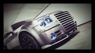 Chrysler 300C SRT8 LED 3D BiG Grill Body Kit Xclusive Customz CRAZY CUSTOM DiMy's HALO's Mannheim