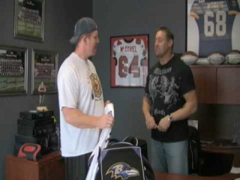 Mike Morris, Matt Birk, and an old Vikings Jersey