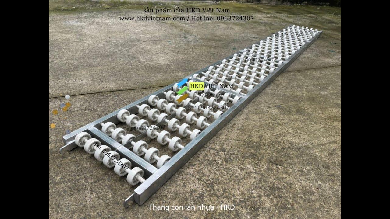 Thang băng tải con lăn chuyển hàng xuống xe – made in HKD VIỆT NAM