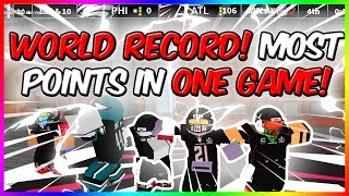WORLD RECORD! MOST POINTS IN ROBLOX NFL 2! 100+