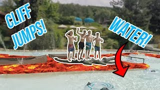 FLOOR IS LAVA CHALLENGE AT A WATERPARK! (KICKED OUT)